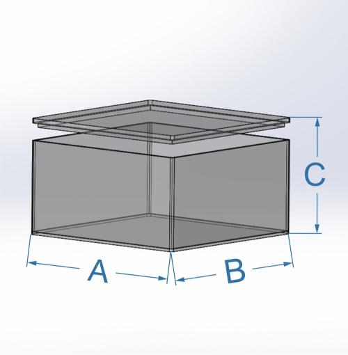 Cotas cajas con tapas