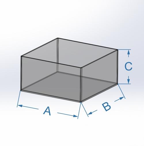 Cotas cajas sin tapas