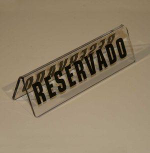 cartel reservado metacrilato